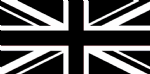 UNION JACK BLACK & WHITE - 8 X 5 FLAG